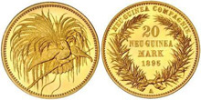 Gold Coins of German New Guinea