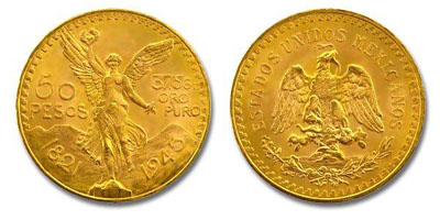 Mexican Gold Fifty Pesos