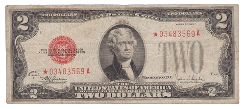 $2 US note