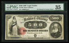 185l $500 1880 Legal Tender PMG Choice Very Fine 35.