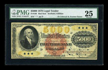 Fr. 188 $5000 1878 Legal Tender PMG Very Fine 25