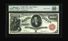 Fr. 187k $1000 1880 Legal Tender PMG Extremely Fine 40